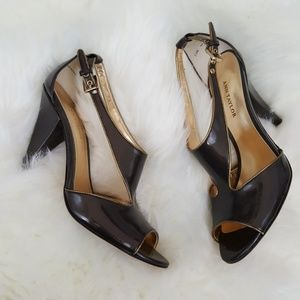 Ann Taylor Peep Toe Heels Size 7